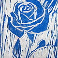 The Blue Rose Poster by Marita McVeigh
