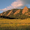 The Boulder Flatirons Poster by Jerry McElroy