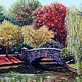 The Bridge at Freedom Park Print by Jerry Kirk