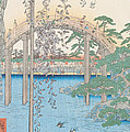 The Bridge with Wisteria Print by Hiroshige