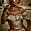 The Bronze Lady in Pike Place Market Print by David Patterson