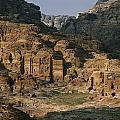 The Caves And Tombs Of Petra, Shown Print by Annie Griffiths