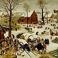 The Census at Bethlehem Print by Pieter the Younger Brueghel