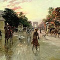 The Champs Elysees - Paris Poster by Georges Stein