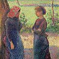 The Chat Poster by Camille Pissarro