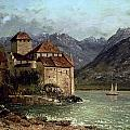 The Chateau de Chillon Print by Gustave Courbet