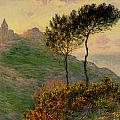 The Church at Varengeville against the Sunlight Print by Claude Monet