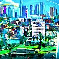The City of Angels Poster by Romy Galicia