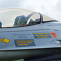 The Cockpit Of An F-16 Fighting Falcon Print by Luc De Jaeger