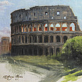 The Coliseum Rome Poster by Anna Bain