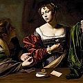 The Conversion of the Magdalene Print by Michelangelo Merisi da Caravaggio