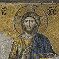 The Dees mosaic in Hagia Sophia Poster by Ayhan Altun