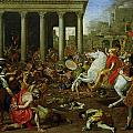 The Destruction of the Temples in Jerusalem by Titus Poster by Nicolas Poussin