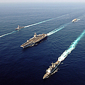 The Enterprise Carrier Strike Group Print by Stocktrek Images