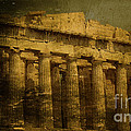 The fall of Athens Print by Lee Dos Santos