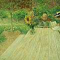 The First Lesson Print by Carl Larsson