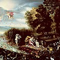 The Four Elements  Print by Flemish School