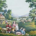 The Four Seasons of Life Childhood Print by Currier and Ives