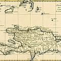 The French and Spanish Colony of the Island of St Dominic of the Greater Antilles Print by Guillaume Raynal