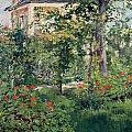 The Garden at Bellevue Poster by Edouard Manet