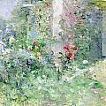 The Garden at Bougival Poster by Berthe Morisot