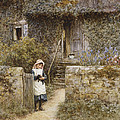The Garden Gate Poster by Helen Allingham