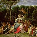 The Garden of Armida Print by David the younger Teniers