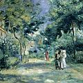The Gardens in Montmartre Print by Pierre Auguste Renoir