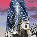 The Gherkin London Poster by Jasna Buncic