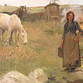 The Gypsy Camp Print by Harold Harvey