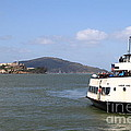 The Harbor King Ferry Boat On The San Francisco Bay With Alcatraz Island in The Distance . 7D14355 Print by Wingsdomain Art and Photography