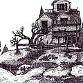 The Haunted House Print by Joella Reeder