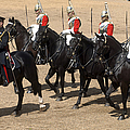 The Household Cavalry Performs Print by Andrew Chittock