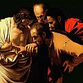 The Incredulity of Saint Thomas Print by Caravaggio