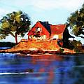 The Island House Print by Russell Pierce