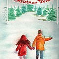 The Joy of Selecting a Christmas Tree Poster by Sharon Mick