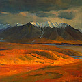 The Land Beyond the Red Tundra Print by Douglas Girard