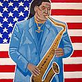 The Late Great Clarence Clemons Print by Eamon Reilly
