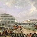 The Liverpool and National Steeplechase at Aintree Print by William Tasker
