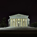 The Lonely Tourist at Jefferson Memorial Poster by Metro DC Photography