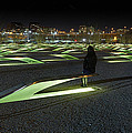The Lonely Tourist at Pentagon Memorial Poster by Metro DC Photography