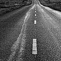 The Long Road Home . 7D9898 . Black and White Poster by Wingsdomain Art and Photography