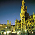 The Marienplatz at night Poster by TAYLOR S. KENNEDY