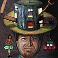 The Mechanic part of the Thinking Cap series Poster by Leah Saulnier The Painting Maniac