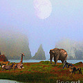 The Menagerie . Painterly Print by Wingsdomain Art and Photography