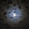 The Moon Covered By A Layer Of Clouds Poster by Miguel Claro