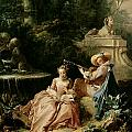 The Music Lesson Print by Francois Boucher
