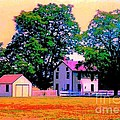 The Old Homestead Impressionism Print by Annie Zeno