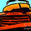 The Old Jalopy . 7D8396 . Color Sketch Style Poster by Wingsdomain Art and Photography