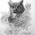 The Owl Print by Thomas Hoyle